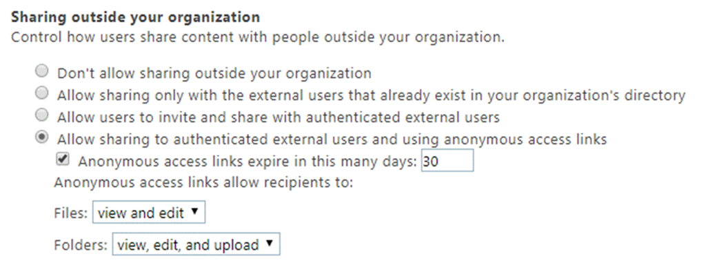 New modern UI for (external) sharing in SharePoint Online