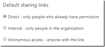 Direct link setting