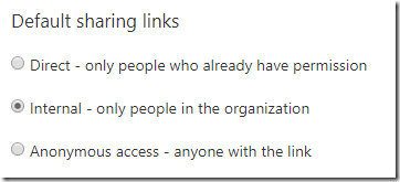 Internal link setting