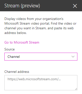 Embedding a Microsoft Stream channel on a web page | Maarten