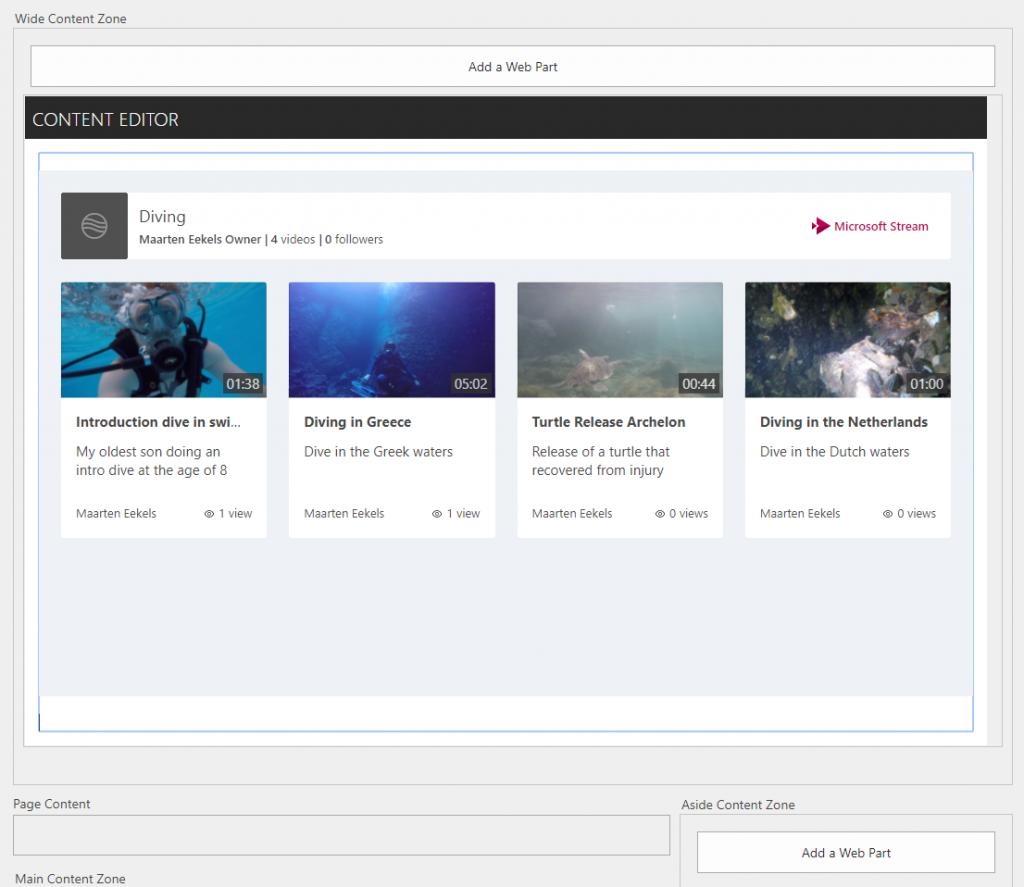 Embedding a Microsoft Stream channel on a web page | Maarten
